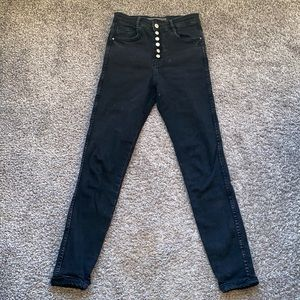 Zara Button Fly High Rise Jeans Size 26 (US 4)